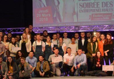 L'équipe d'apprentis entrepreneurs lors des Entrepreneuriales de la région Bourgogne Franche-Comté